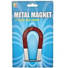 """Metal Horse Shoe Magnet 4"""" - Fun Pocket Money Toy"""