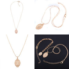 Women Catholic Religious Virgin Mary Rose Gold Plated Pendant Necklace Jewelry
