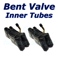 PAIR of 10 1/2 x 2 1/4 CR202 Bent Valve Schrader Inner tubes Pram 1st class Post