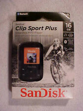 SanDisk - Clip Sport Plus 16Gb Wearable Mp3 Player w/Bluetooth Black New Sealed