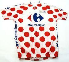 Tour France Polka Dot Hill Climber King Cycling Bike Racing Jersey Shirt MEN'S S