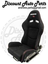 PAIR BRIDE GIAS Version 1 FRP Backing Black Low Max JDM Seat w/sliders DRIFT