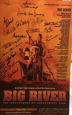 Deaf West's BIG RIVER Broadway Cast Signed Poster Windowcard