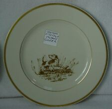 "FITZ & FLOYD china THE HUNT pattern Salad Plate #2 @ 7-1/2"" One Dog on a Log"