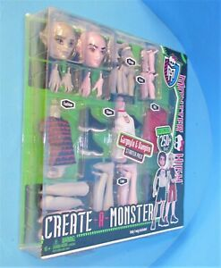 MONSTER HIGH Rare Create A Monster Gargoyle Vampire Boy Set w/ Display Box L@@K