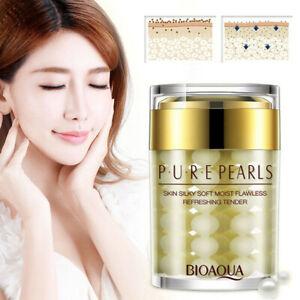 Pure Pearl Collagen Essence Face Hydrating Moisturizing Anti-Aging Cream Women