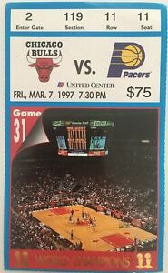 Chicago Bulls Indiana Pacers Ticket Stub (Mar. 7, 1997, United Center)