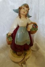 RARE Vintage A. Borsato Signed Figurine Made in Italy of Dutch Girl Mint Cond.