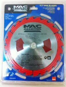 MacAllister Mitre Saw Blade 250mm x 24T 2 BLADES TCT Wood cutting Blades SALE