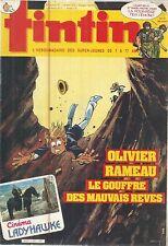 TINTIN L'HEBDOMADAIRE DES SUPER-JEUNES DE 7 A 77 ANS 5/3/85