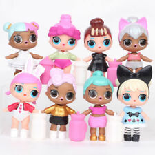 8pcs Set LOL Surprise Doll Series 2 PVC Figure Baby Sisters Toy Cake Topper Gift