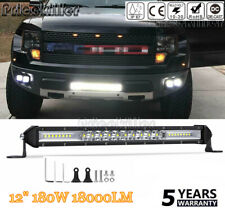 12INCH Slim striaght LED Light Bar Work Light Offroad Flood Spot Combo Boat 12""