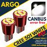 501 Super Bright Canbus Cree Led Side Light W5w T10 6 Smd Xenon White Bulbs