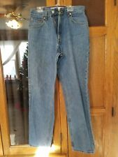 LEVI'S LADIES SIZE 10 M DENIM JEANS (550) RELAXED FIT TAPERED LEGS BLUE JEAN PAN