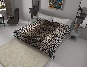 Solaron Classic Leopard Korean Thick Mink Soft Plush King Size Blanket Brown