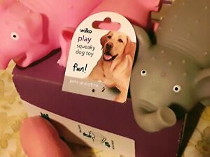 "Box Of DOG RUBBER  SQUEAKERS""PIGS/RHINO/ELEPHANT..JOB LOT"
