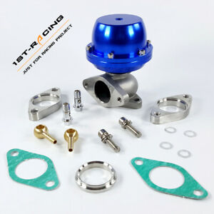 Cast Steel 38mm External Turbo Wastegate Bypass Exhaust+ Flanges+Spring 8PSI BU