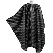 BLACK Vintage Barber Cape Gown With White Pin Stripe Gown No Sleeves King Size