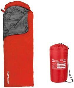 Spokey Monsoon, Schlafsack Sommerschlafsack +14° bis +20° Mumienschlafsack rot