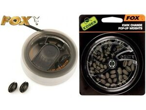 FOX KWIK CHANGE POP-UP WEIGHTS - ALL SIZES - QUICK CHANGE - CARP/COARSE FISHING