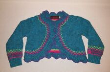 NEW Catimini Cardigan Blue Turquoise Pattern Baby Girls 18 Months Angora Blend