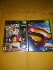 Xbox Game Bundle - Sneakers & Superman Returns ( Complete )