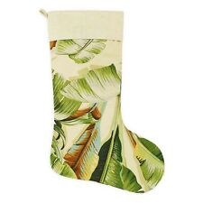Tommy Bahama Christmas Stocking Palmiers Green Holiday Beach Summer Tropical