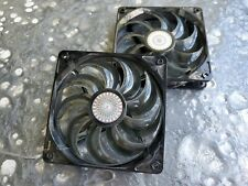 Cooler Master Sickle Flow Black Case Fans (GREEN Led 120MM) Pair (Set of 2) Used