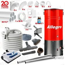 Builder's Special Central Vacuum System 30' Hose 80' Pipe 3-inlet kit COMPLETE
