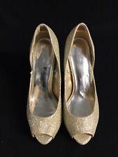 Hot Options Gold Peep Toe Heels Shoes 8 39