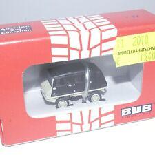 BUB 1:87 11775 Steyr Puch Haflinger 4x4 Zivil geschl. grau/schwarz OVP(EK452)