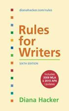 Rules for Writers with 2009 MLA and 2010 APA Updates by Diana Hacker (2010, Spi…