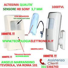 Telecamera Nascosta in Sensore Allarme PIR 1000 TVL HD con IR infrarossi SPY