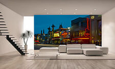 Hollywood Boulevard at Night Wall Mural Photo Wallpaper GIANT DECOR Paper Poster