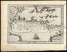 Antique Print-Map-Travel Account-Houtman-Java-Ship -Indonesia-Commelin-1646
