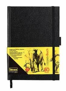 Idena Skizzen-Buch, DIN A5, 80 Seiten, 110 g/m² Gummiband & Stifthalter 63143