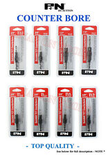 P&N COUNTERBORE SET Drill Bit Top quality tools countersink sutton 8PC Special
