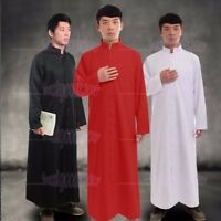 Men's Clergy Cassock Church Robe Apparel Vestments Single Breasted Buttons