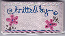 """BLUMENTHAL LANSING IRON ON LOVE LABELS - """"KNITTED BY ___________"""" - SET OF 4 PC"""