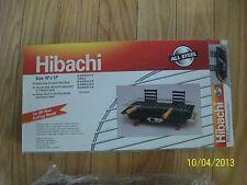 "Nib Hibachi all steel barbecue Charcoal Grill 17"" x 10"" New"