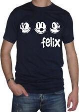 fm10 camiseta de hombre FELIX LA CAT gato negro DIBUJOS ANIMADOS Y CÓMICS