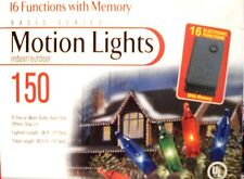 NEW Christmas Motion Lights 150 Indoor/Outdoor 16 Electronic Functions W/ Memory
