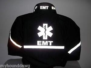All Reflective EMS Jacket, EMT, Paramedic, Black or Navy, Choose Your Prints