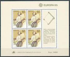 1985 EUROPA PORTOGALLO FOGLIETTO MNH ** - EV