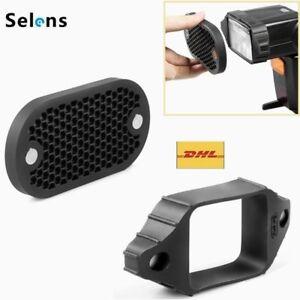 Selens Magnetic Flash Modifier Honeycomb Grid Rubber Band Grip kit for Speedlite