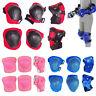 Set of 6 Children Protective Pad Kids Wrist Elbow Knee Protectors Gear Set