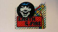 Earth & Fire pop group artist SMALL STICKER Vintage logo music