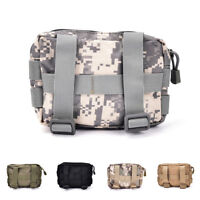 Airsoft Tactical Military Modular MOLLE Small Utility Pouch EDC Bag Waterproof~!