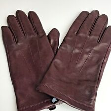 John Lewis Woman's Leather Gloves BNWOT Burgundy Red Small / Medium RRP £59