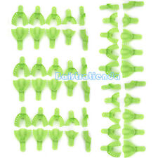 5X 10Pcs/Set Dental Autoclavable Impression Teeth Plate Trays Orthotic Supply